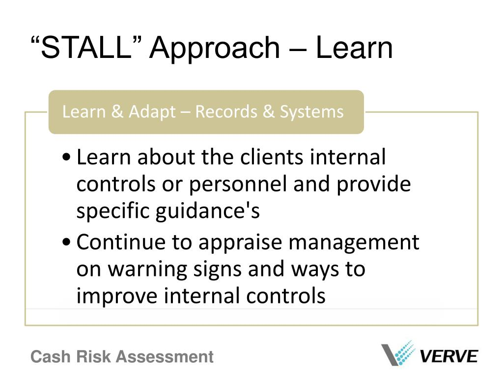 """""""STALL"""" Approach – Learn"""