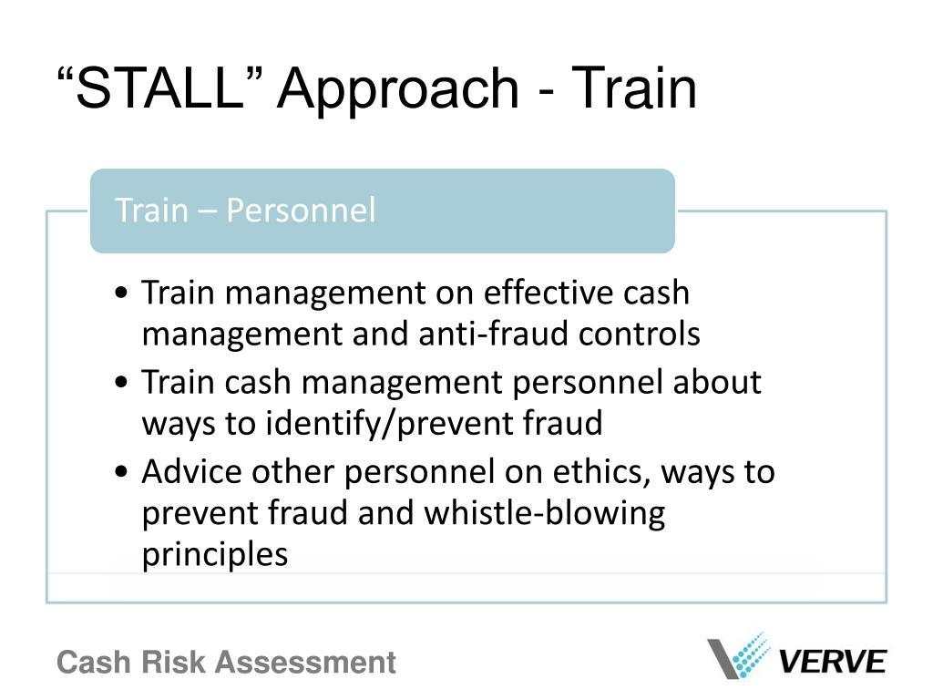 """STALL"" Approach - Train"