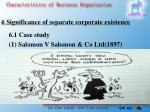 6 significance of separate corporate existence