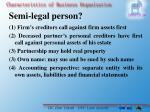 semi legal person