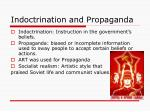 indoctrination and propaganda
