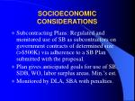 socioeconomic considerations13
