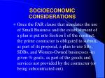 socioeconomic considerations14