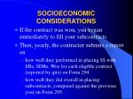 socioeconomic considerations16