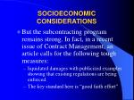 socioeconomic considerations27