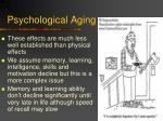 psychological aging