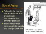 social aging