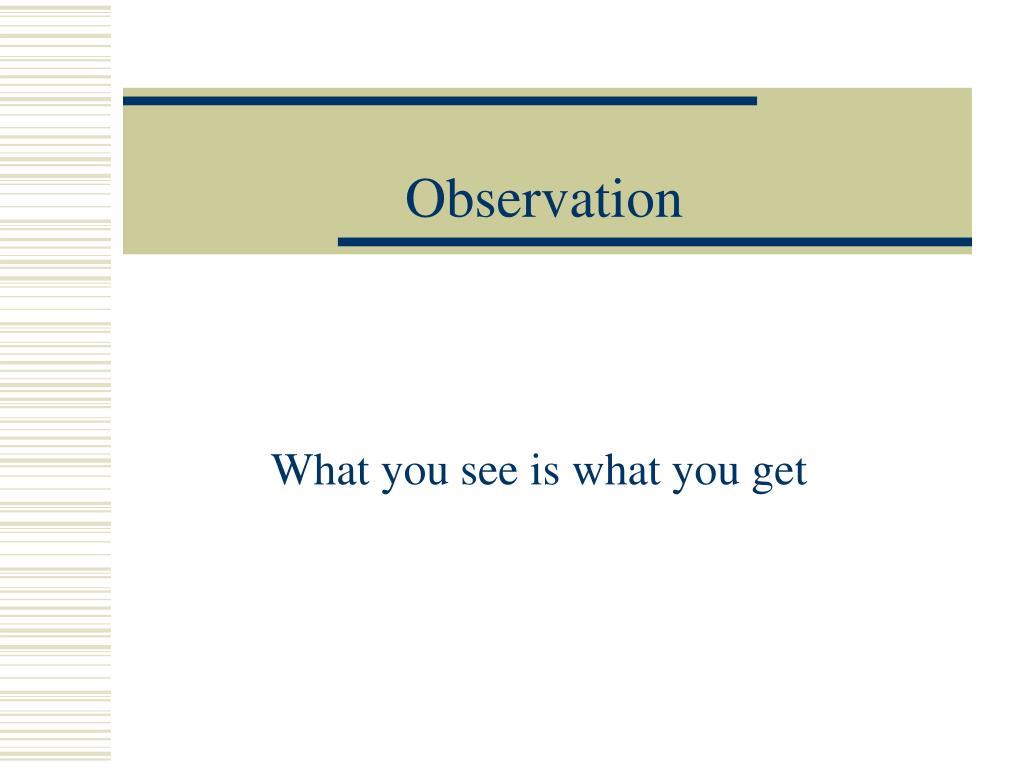 observation l.