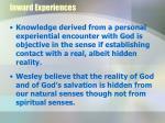 inward experiences