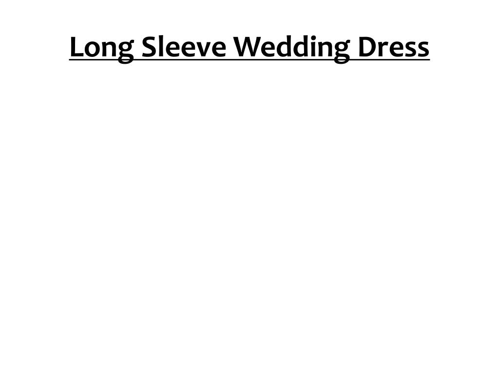 long sleeve wedding dress l.