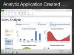 analytic application created18