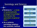 sociology and science