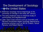 the development of sociology in the united states