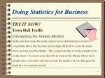 doing statistics for business11
