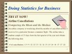 doing statistics for business15
