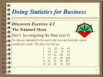 doing statistics for business18