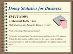 doing statistics for business28
