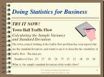 doing statistics for business33