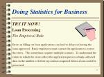 doing statistics for business35