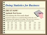 doing statistics for business43