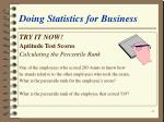 doing statistics for business44