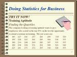 doing statistics for business47