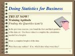 doing statistics for business56