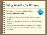 doing statistics for business57