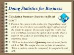 doing statistics for business59