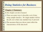 doing statistics for business66