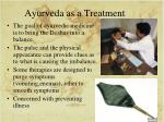 ayurveda as a treatment