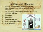science and medicine