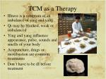 tcm as a therapy