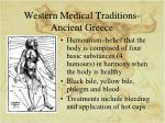 western medical traditions ancient greece
