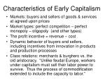 characteristics of early capitalism