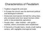 characteristics of feudalism