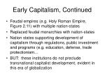 early capitalism continued11