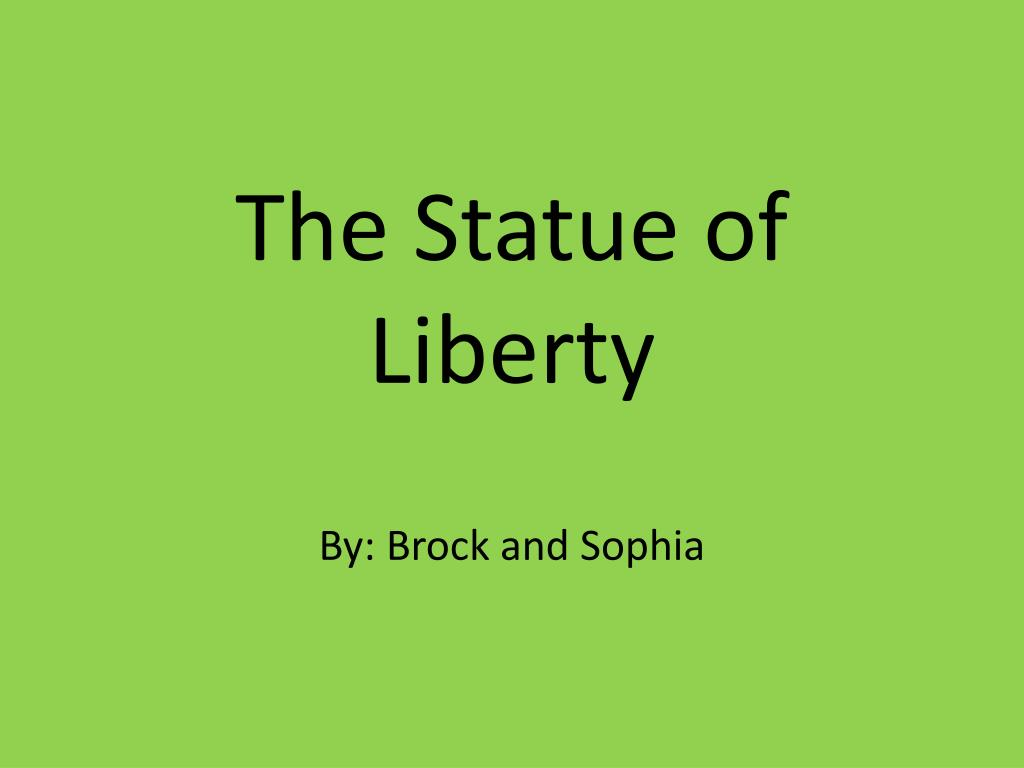 the statue of liberty l.