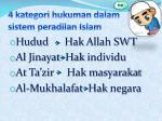 4 kategori hukuman dalam sistem peradilan islam