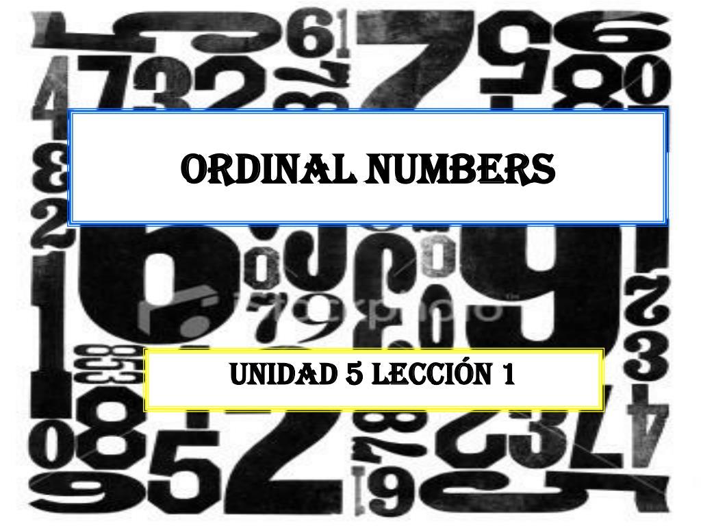 ordinal numbers l.