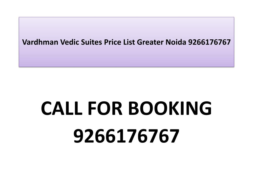 vardhman vedic suites price list greater noida 9266176767 l.
