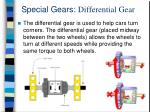 special gears differential gear