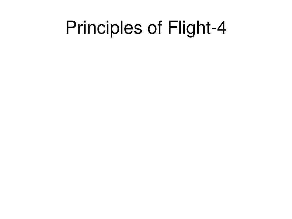 principles of flight 4 l.