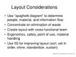 layout considerations