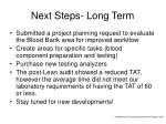 next steps long term