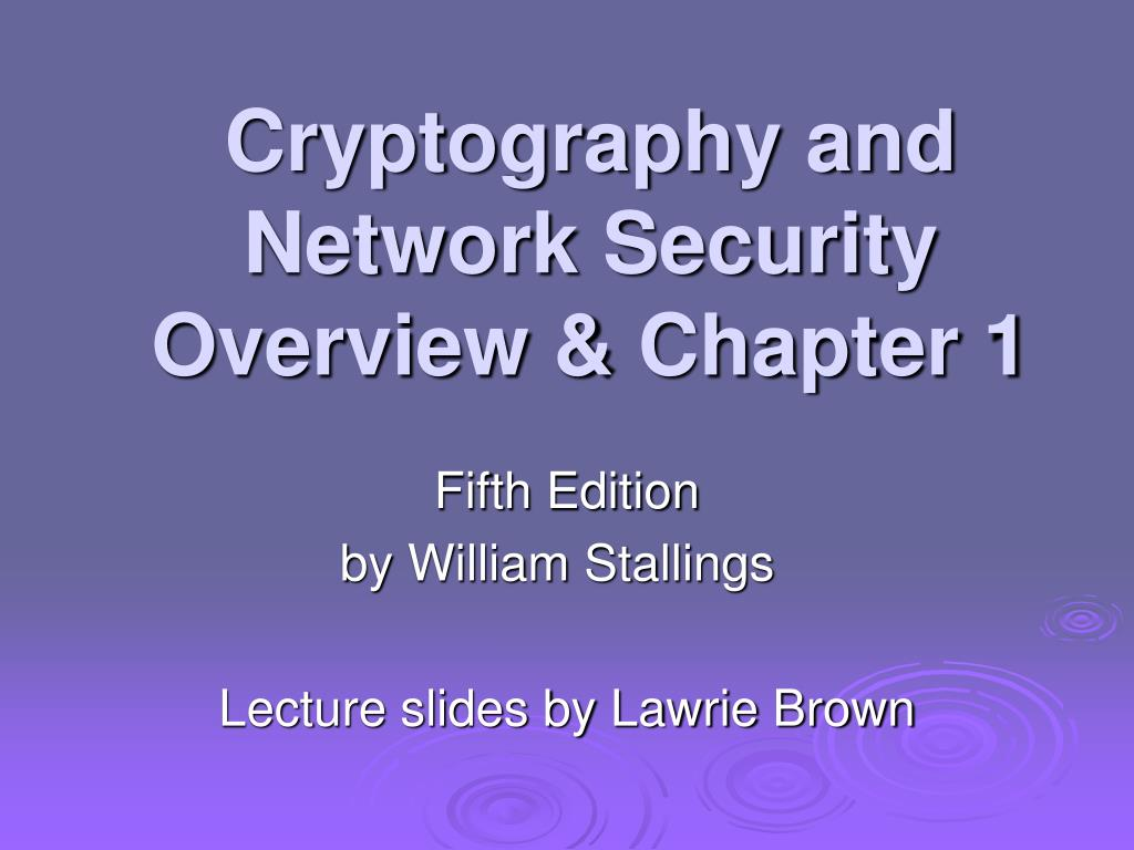 cryptography and network security overview chapter 1 l.