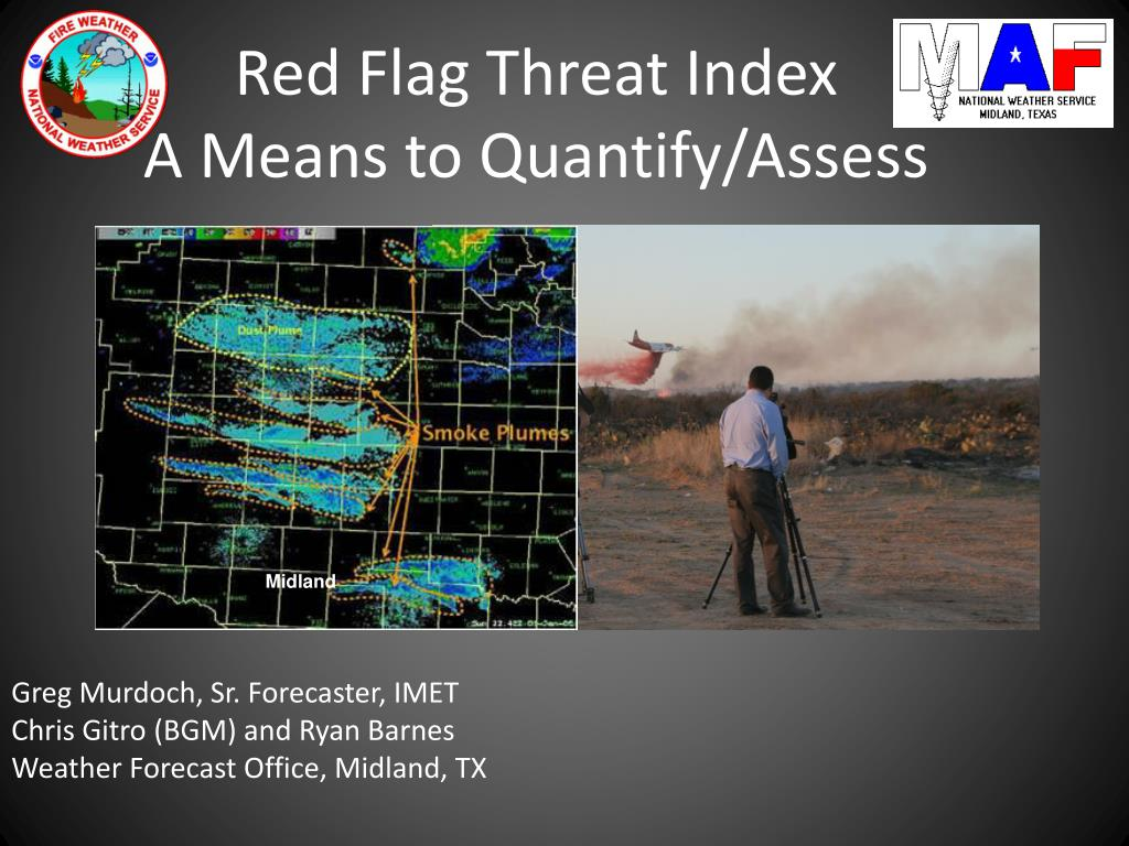red flag threat index a means to quantify assess l.