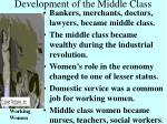 development of the middle class