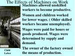 the effects of machines on work