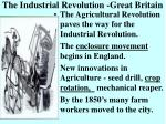 the industrial revolution great britain